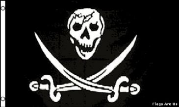 Pirate Skull and Two Swords